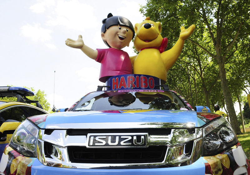 photo Isuzu Haribo Tour de France Cycliste