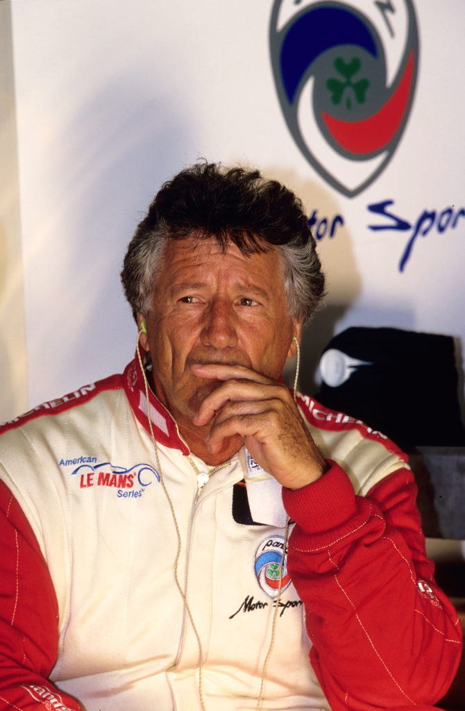 photo portrait homme Mario Andretti