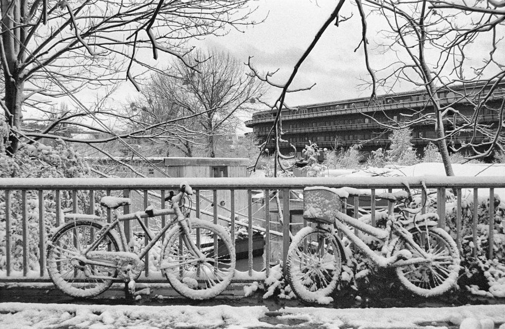 photo neige velos